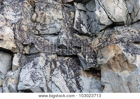 Cracked Rock Surface Background