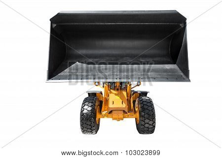 Bulldozer, Isolated On White With Clipping Path