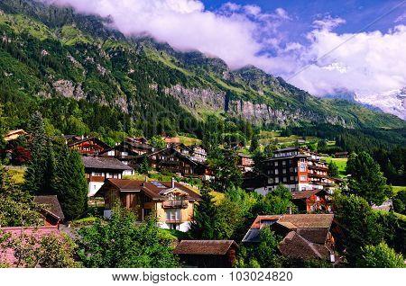 Swiss Mountain Resort of Wengen