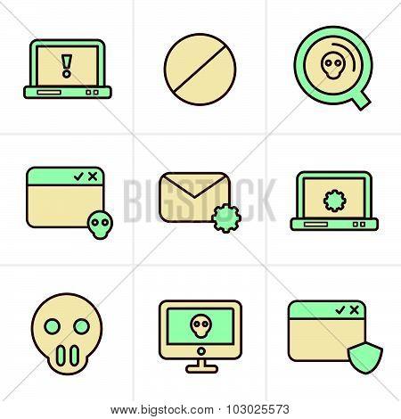 Icons Style  Digital Criminal Icons Set