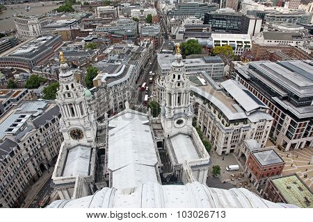 Above London With St Paul's Cathedral, Uk
