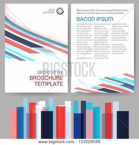 Vector Sport Style Brochure Template