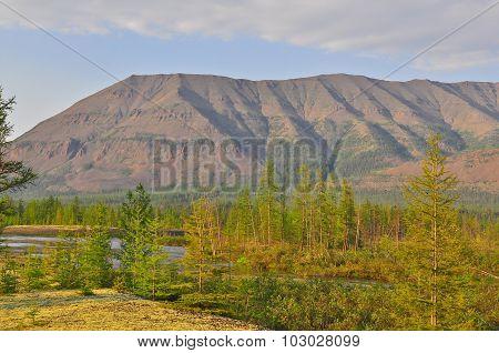 Mountains Of The Putorana Plateau.