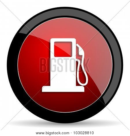 petrol red circle glossy web icon on white background, round button for internet and mobile app