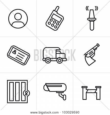 Line Icons Style  Security Icons