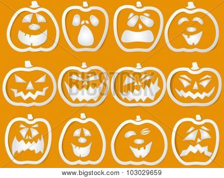 paper pumpkin outlines