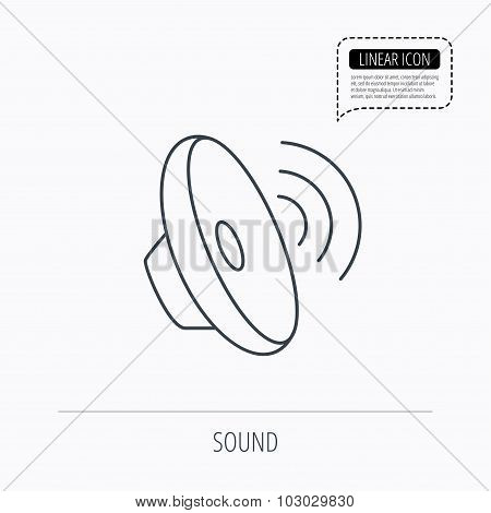 Sound waves icon. Audio speaker sign.