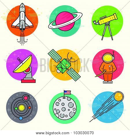 Astronomy Vector Icon Set