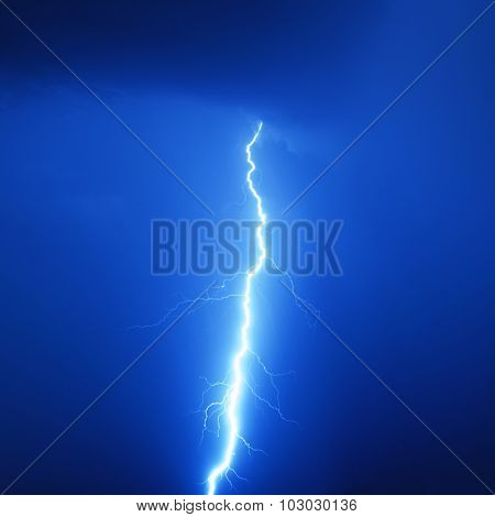 Lightning bolt in a storm