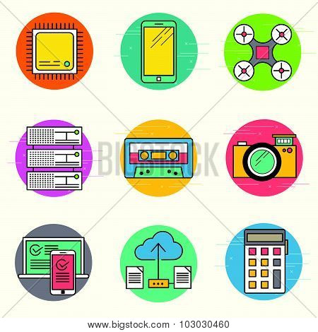 Technology Vector Icon Set