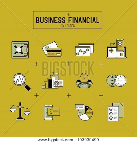 Business Financial Icon Set
