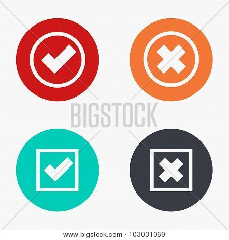 Vector modern vote colorful icons set