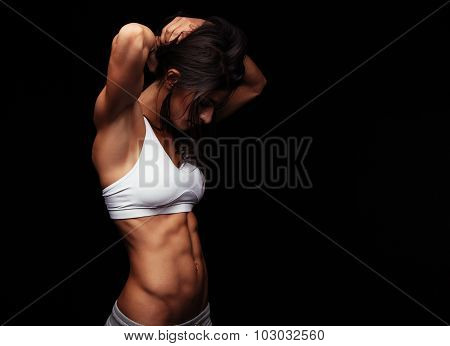 Fit Young Woman Getting Ready For Exercising