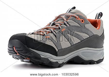 Front view of hiking boots