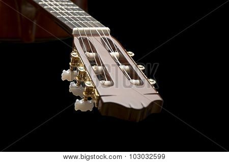 Close up of a classical guitar with space for your text.