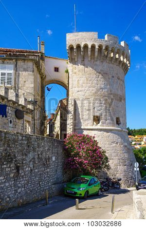 The Zakerjan Tower, Korcula, Croatia