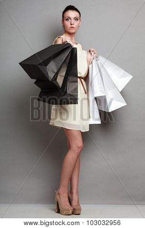 Sales, Retail And Woman Shopping Time.