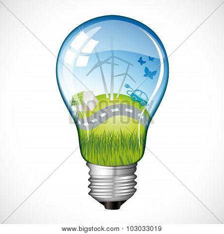 Eco Planet Light Bulb