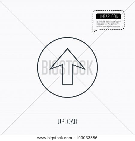 Upload icon. Top arrow sign.