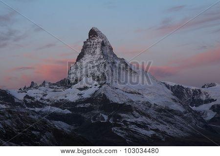Pink Clouds Over The Matterhorn