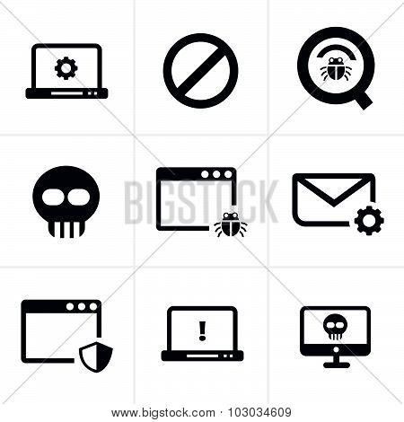 Digital Criminal Icons Set