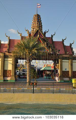 Thailand pavilion at Global Village in Dubai, UAE