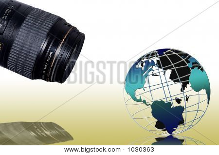 Globe Macro Photo