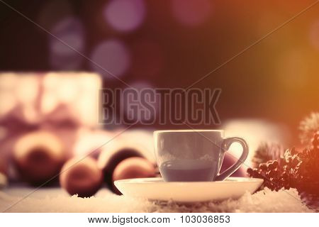 Cup Of Tea And Gifts