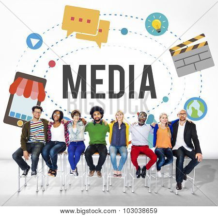 Media Technology Communication Network Connection Concept
