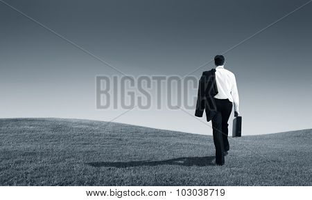 Businessman Solitude Leadership Loneliness Aspiration Concept