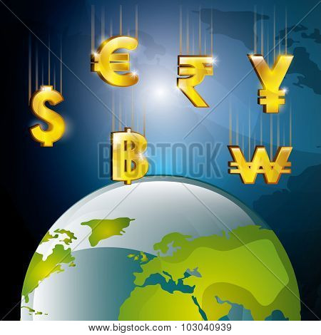 Global market and stock exchange