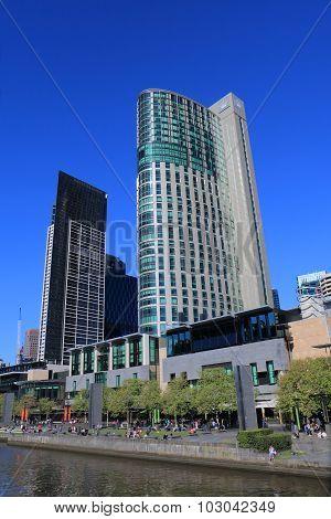 Melbourne cityscape Crown Casino