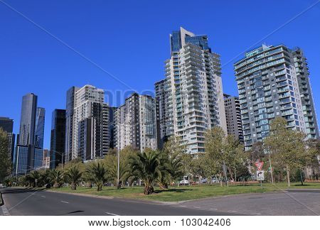 Melbourne cityscape residential apartment