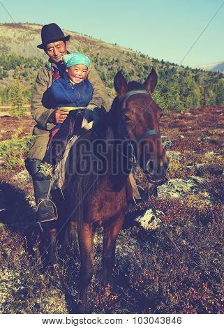 Mongolian Tsataan Horse Equestrian Remote Rural Concept