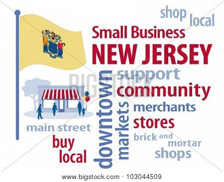 New Jersey Flag, Small Business USA, The Garden State