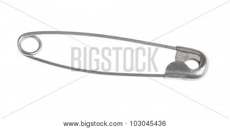 safety pin isolated on white background