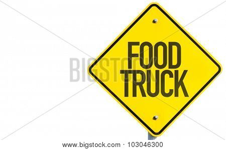 Food Truck sign isolated on white background