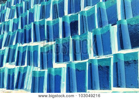 Abstract Chinese Roof Tile