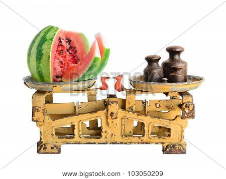 Watermelon On Old Scales
