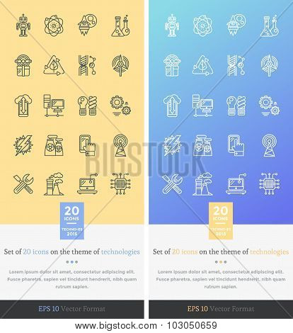 Set Icons on the Theme of Modern Technology