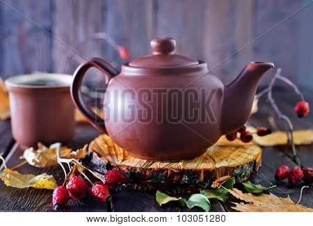 Fresh Tea In Teapot