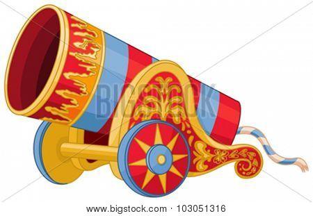Illustration of huge cannon