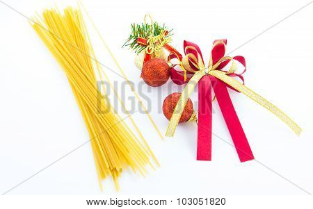 Dry Pasta With Xmas Decorations
