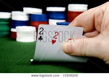 A pair of twos at texas holdem Poker