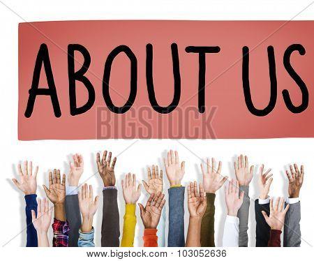 About Us Support Question Service Assistance Concept