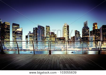 Cityscape Architecture Building Business Metropolis Concept