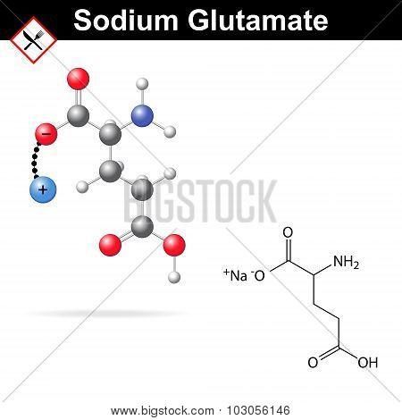 Sodium Glutamate Molecule