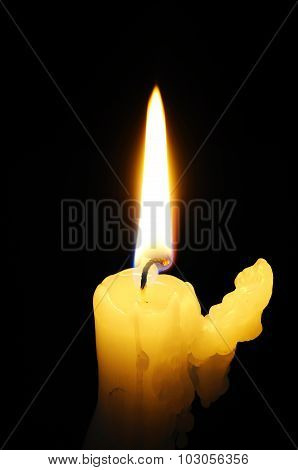 Alight white candle.