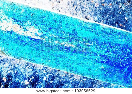 Abstract Rust On Metal Dye In Blue