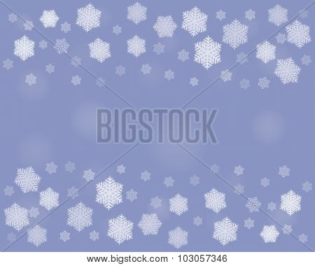 Dark Christmas Snowflakes Background